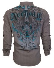 Archaic AFFLICTION Mens BUTTON DOWN Shirt CROSS WINGS Roar BKE EXPRESS S-XXL $78