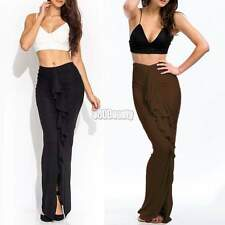 Womens Long Gypsy Maxi Skirts Ladies High Waist Stretch Full Length Skirt Dress
