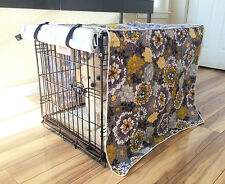 Designer Floral Blossom Dog Pet Wire Kennel Crate Cage House Cover S M L XL