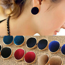 New European Vintage Round Velvet Ear Studs Earrings Fashion Jewelry Gift