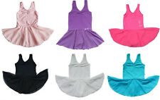 Girls Kids Ballet Leotard Kid Toddler Gymnastic Skirt Dress Dancewear 3-14Y Tutu