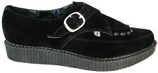 T.u.k. Pointed Creeper Men's Black Leather Buckle Strap Monk Style Jam Shoes New