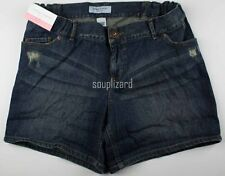 NEW Womens Maternity Shorts Denim Jean Liz Lange NWT Size Sz M L Medium Large