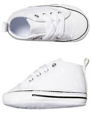 New Converse Baby First Star Crib Shoe Children Toddler Tots Girl's Shoes White
