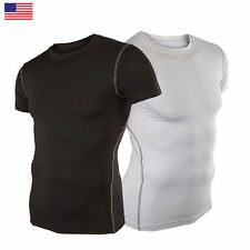 Men Compression short Sleeve Sports Tight Shirts Fitness GYM Base Layer Top