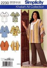 Simplicity 2230 Sewing Pattern Khaliah Ali Tunic Top Misses10-18 or Plus 20W-28W
