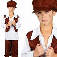 Chimney Sweep Victorian Poor Boy Fancy Dress Kids Costume Book Character Outfit