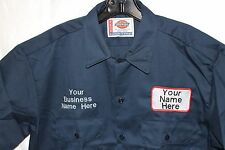 dickies mens custom patch embroidered work uniform shirt sizes small-big 6XL new