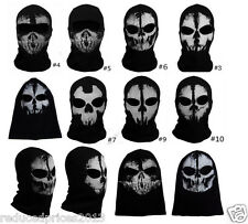 Call of Duty 10 COD Costume Balaclava Ghost Skull Face Mask Bike CS COS Hood