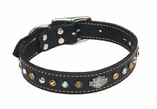 Harley-Davidson® Jeweled Leather Collar- Genuine*** ALL Sizes Available!