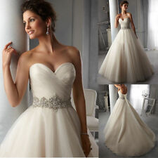 New Stock White/Ivory Wedding Dress Bridal Gown Size:6/8/10/12/14/16