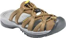 Womens KEEN 1003742 Whisper Slide Coffee Liqueur Keen Yellow Water Shoe Sandal