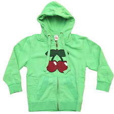 OFFICIAL Pacha Ibiza: Basic Cherry Logo Kids Zip up Hoodie Green Black RRP £50