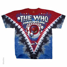 The Who Tie Dye T-Shirt, Bally Table King, Pinball Wizard, NEW, Liquid Blue