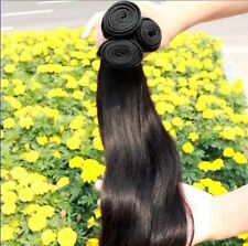 3 BUNDLES Brazilian Straight 100% Virgin Human Hair Weft Extensions 150g Hair