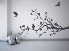Tree branch with crows ravens wall decal birds mural game of thrones fan sticker