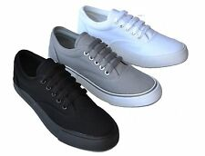 BB-H New Men`s Canvas Sneakers Classic Lace Up Low-Top Casual Shoes Size 7~12