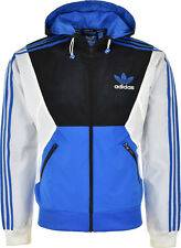 ADIDAS ORIGINALS MENS SPO HOODED RAIN COAT TRACK JACKET WINDBREAKER TOP NEW