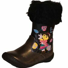 New Girls Novelty Dora The Explorer Character Connect Fluffy Snugg Boot Shoe