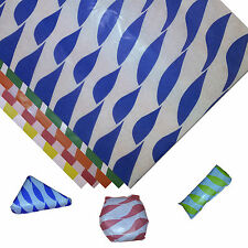 Blue Twist Greaseproof Paper Burger / Sandwich / Party / Food Wraps