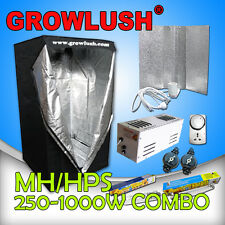 400W Magnetic Grow tent Grow light with bat wing MH/HPS bulbs Timer & Yoyo Combo