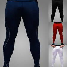 Mens Base Layer Compression Long Under Tight Pants Sport Wear Gear Skins Tights