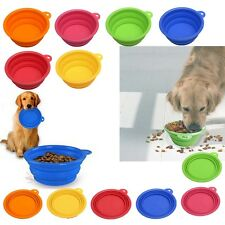 Gamelle Chien Chat Animal Bol Alimentation Ecuelle Mangeoire Pliable Silicone