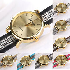 Fashion Women Crystal Bracelet Winding Quartz Dial Wristwatch Watch Ornate