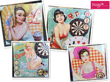 1pc 50's Vintage Pinup Girl Canvas Print Poster Sexy Girl | 50x50cm HOME167395