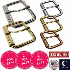 """1 1/2"""" (38 mm) Nickel Free Single Prong Rectangle Belt Buckle Allergy Free NEW"""