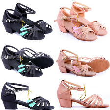 Brand New Women Children Girl's Ballroom Latin Tango Dance Shoes heeled Salsa