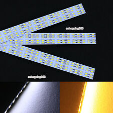 5m 10X 50cm 5630 Rigid led bar hard Strip light double row 72 LED White warm 12V