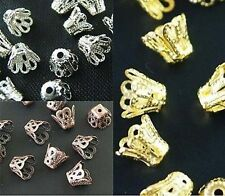 Wholesale Gold /Silver/Copper Plated Cup Bead Caps Jewelry Findings
