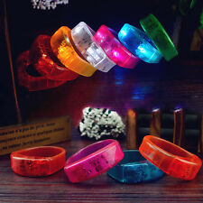 Sound Controll Voice LED Light Up Bracelet Plastic Glow Flash Blinking Bangle