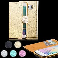 iCues® CHROME STRASS Cover + Film Protecteur Housse Etui Case Portefeuille Coque