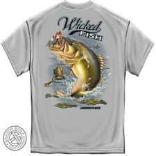 "Wicked Fish T-Shirt ""LARGE MOUTH BASS"", HD Color Graphics - WF-123"