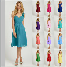 2015 Short Knee Length Formal Cocktail Formal Bridesmaid Party Prom Dress 6-16