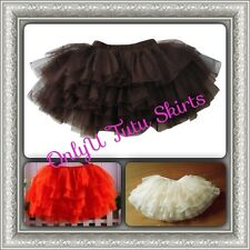 New Made To Order Tutu Ballet Dance Costume Lace Skirt Age 2-13 Years Black Red