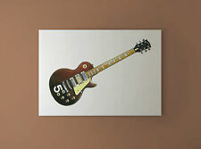 Pete Townshend's #5 Wine Red Gibson Les Paul Deluxe CANVAS PRINT