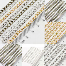 Lots 25/100Pcs Metal Ring Cable Open Link Iron Metal Chain Findings DIY5x3mm