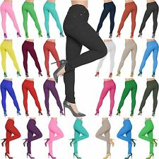 Women Ladies NEW Plus Size Stretch Jeggings Pants Skinny Jeans Pocket Fit 8-26