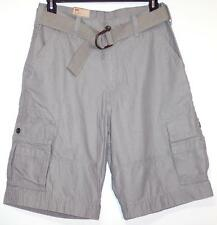 NWT Men's Levi's Belted Cargo Shorts Sits Below Waist Solid Gray 30 31 33