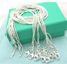 Wholesale Lots 5pcs Silver Plate Silver Plated  Snake Chain Necklace 16-24 inchh