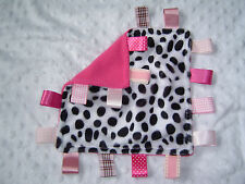 Cerise Fleece Taggy Comforter/Blanket, Dalmatian or Zebra