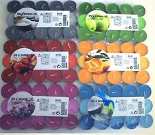 30 IKEA SINNLIG SCENTED TEA LIGHT CANDLES  7 Different Scents. Assorted/Mixed