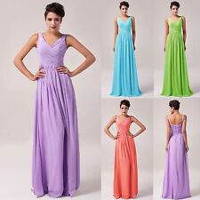 SALE Long Chiffon Bridesmaid Prom Dresses Formal Party Ball Gown Evening Dresses