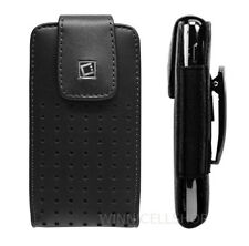 Premium Vertical Leather Rotating Clip Case for Cell Phones With MOPHIE Pack on