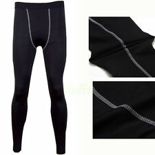 Mens GYM COMPRESSION Base Layer Pants tight under skin sports gear Wear