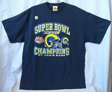 SUPER BOWL XXXIV CHAMPIONS ST. LOUIS RAMS BLUE T-SHIRT L XL 2XL FREE SHIPPING