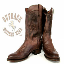 Lucchese Since 1883 Tan Burnished Ranch Hand Boots N1596